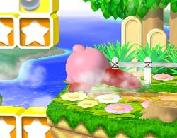 Ataque de recuperación de cara hacia arriba de Kirby (2) SSBM