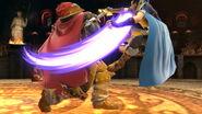 Ganondorf atacando a Marth SSBU