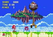 Knuckles y el EggRobo en Sonic & Knuckles