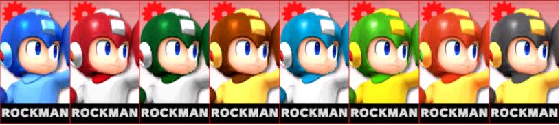 Paleta de colores de Mega Man (JAP) SSB4 (3DS)