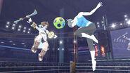 Pit y la Entrenadora de Wii Fit en el Ring de boxeo SSB4 (Wii U)