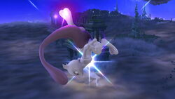 Ataque aéreo hacia abajo Mewtwo (1) SSB4 (Wii U)