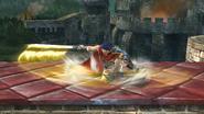 Ataque de recuperación boca abajo de Ike (2) SSB4 (Wii U)