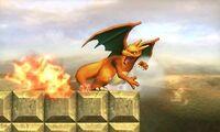 Ataque fuerte lateral de Charizard SSB4 (3DS)