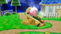 Lanzamiento hacia abajo Peach SSB4 Wii U