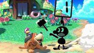 Mr. Game & Watch usando Juez SSBU