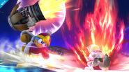 Rey Dedede usando el Martillo a Reacción SSB4 (Wii U)