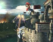Smash meteórico Mario SSBB (2)