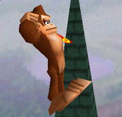 Ataque aéreo hacia abajo de Donkey Kong SSB
