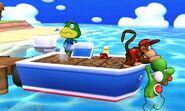 Diddy Kong y Yoshi en la Isla Tórtimer SSB4 (3DS)