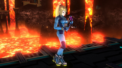 Pose de espera de Samus Zero (2) SSB4 (Wii U)