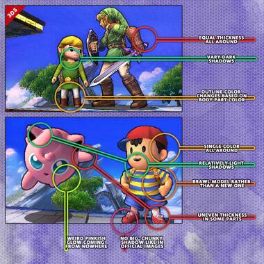 Rumor de Jigglypuff y Ness demostración SSB4 (3DS)
