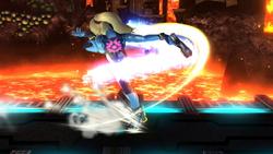 Ataque Smash lateral de Samus Zero (1) SSB4 (Wii U)