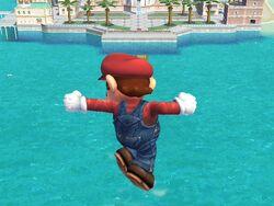 Ataque aéreo hacia abajo (2) Mario SSBB