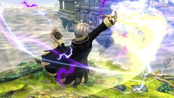 Ataque aéreo hacia adelante Robin SSB4 (Wii U)