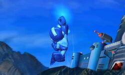 Ataque fuerte superior de Mega Man SSB4 (3DS)