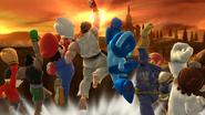 Créditos Modo Senda del guerrero Ryu SSB4 (Wii U)
