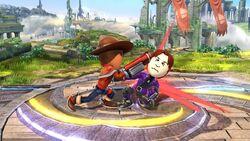 Golpiza Tirador Mii SSB4 Wii U