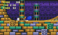 Sonic usando Carga Giratoria en Sonic 3