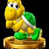 Trofeo de Koopa verde SSB4 (Wii U)