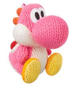 Amiibo Yoshi de lana rosa (serie Yoshi's Woolly World)
