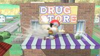 Ataque Smash hacia abajo Ness (2) SSB4 (Wii U)