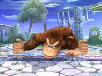 Ataque Smash inferior Donkey Kong SSBB