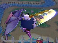Ataque aéreo delantero Meta Knight SSBB