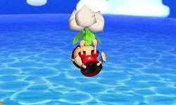 Ataque aéreo hacia arriba Aldeano (tres nabos) SSB4 (3DS)