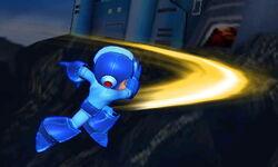 Ataque aéreo hacia atrás de Mega Man SSB4 (3DS)