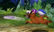 Duck Hunt usando su movimiento Frisbi en SSB4 (3DS)