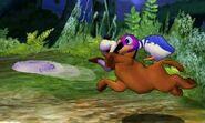 Duck Hunt usando su movimiento Frisbi en SSB4 (3DS)