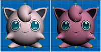 Modelos de Jigglypuff de Super Smash Bros para 3DS