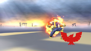 Pose de victoria de Captain Falcon (2-1) SSB4 (Wii U)