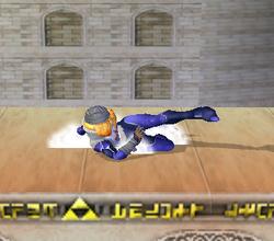Ataque Smash hacia abajo de Sheik (1) SSBM