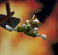 Ataque aéreo hacia atrás de Fox SSB