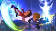 Dos Miis Karateka en el Campo de Batalla SSB4 (Wii U)
