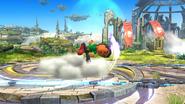 Karateka Mii usando Cabezazo meteórico (1) SSB4 (Wii U)