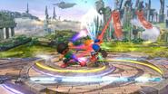 Karateka Mii usando Patadas relámpago (2) SSB4 (Wii U)