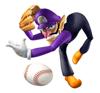Pegatina Waluigi (Mario Superstar Baseball) SSBB