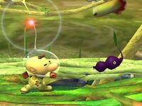 Ataque Smash lateral Olimar SSBB