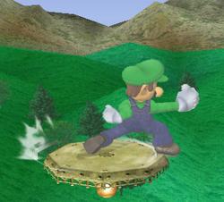 Ataque de recuperación de cara al suelo de Luigi (1) SSBM
