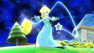 Estela realizando su Movimiento especial hacia abajo, Atracción Gravitacional SSB4 (Wii U)