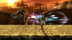 Lanzamiento trasero de Link SSB4 (Wii U)