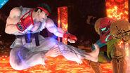 Ryu y Samus en Norfair SSB4 (Wii U)