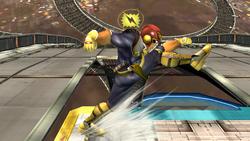 Ataque Smash hacia abajo Captain Falcon SSBB (1)