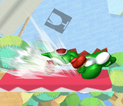 Ataque Smash lateral de Yoshi SSBM