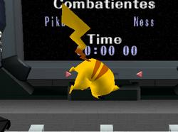 Ataque aéreo hacia arriba de Pikachu SSBM