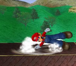 Ataque de recuperación de cara hacia arriba de Mario (2) SSBM