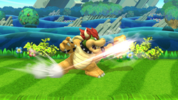 Ataque fuerte lateral de Bowser (2) SSB4 (Wii U)